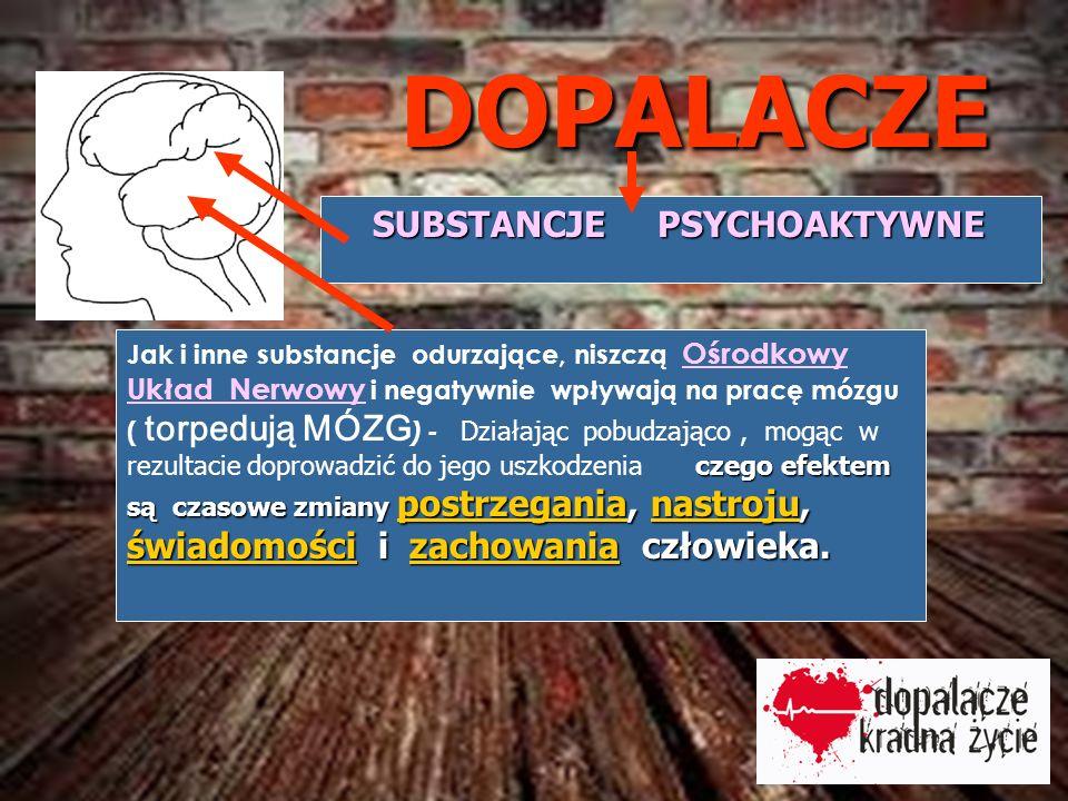DOPALACZE SUBSTANCJE PSYCHOAKTYWNE