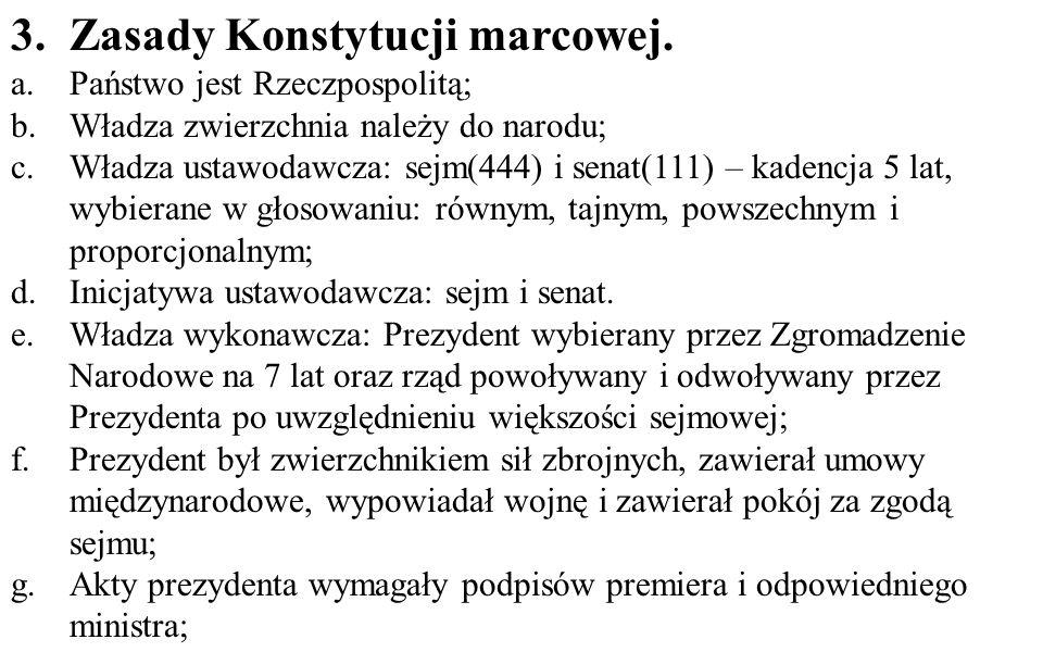 Zasady Konstytucji marcowej.