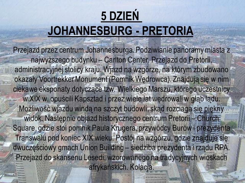 JOHANNESBURG - PRETORIA
