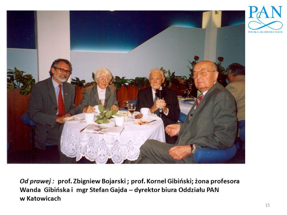 Od prawej : prof. Zbigniew Bojarski ; prof