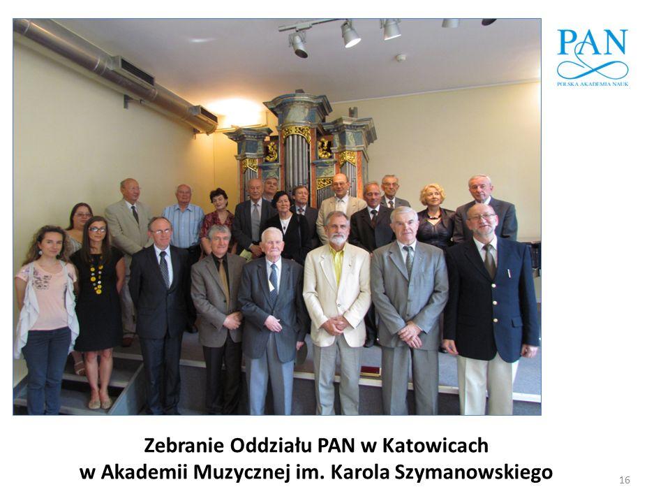 Zebranie Oddziału PAN w Katowicach w Akademii Muzycznej im