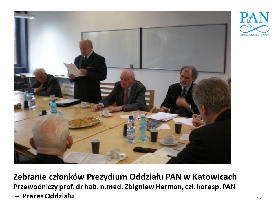 Zebranie członków Prezydium Oddziału PAN w Katowicach