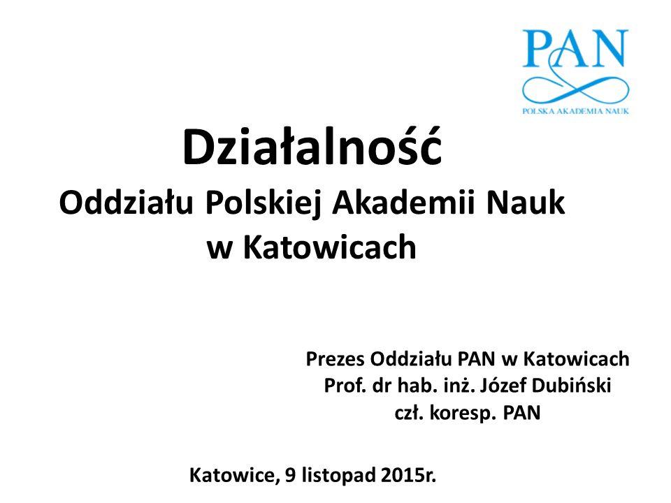 Działalność Oddziału Polskiej Akademii Nauk w Katowicach
