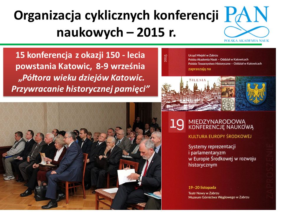 Organizacja cyklicznych konferencji naukowych – 2015 r.