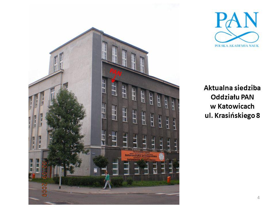Aktualna siedziba Oddziału PAN w Katowicach