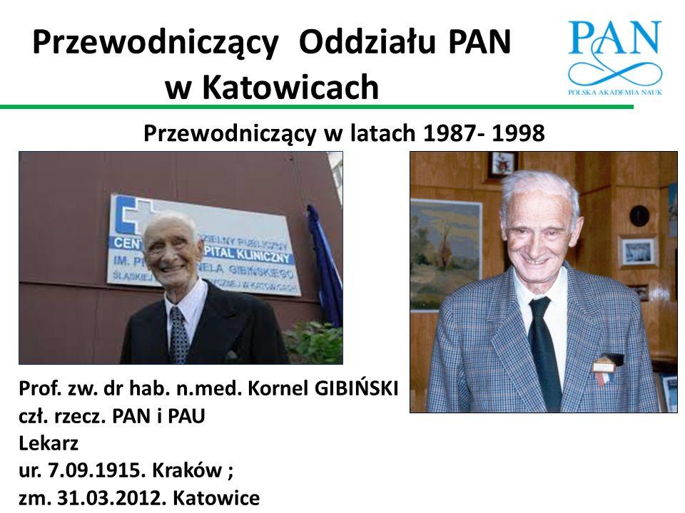 Przewodniczący Oddziału PAN w Katowicach