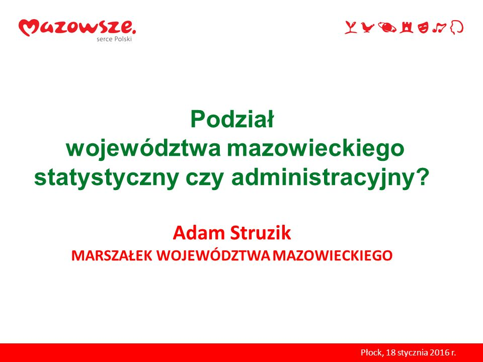 Podział województwa mazowieckiego statystyczny czy administracyjny