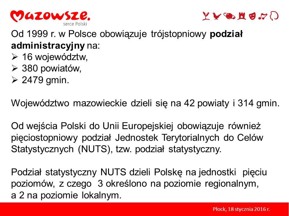 Województwo mazowieckie dzieli się na 42 powiaty i 314 gmin.