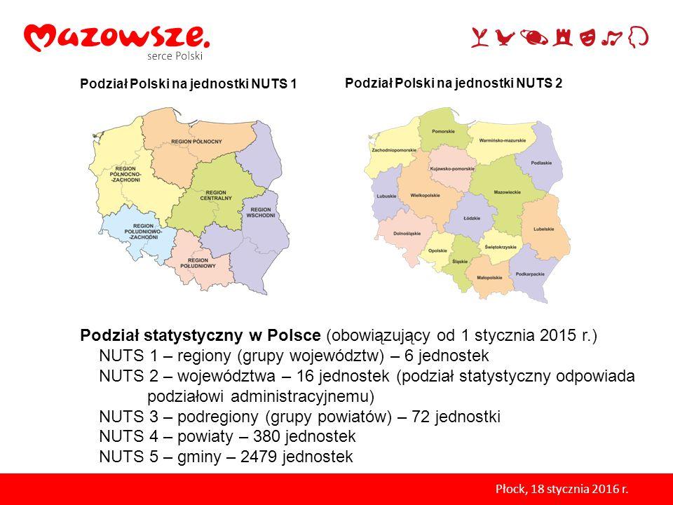 Podział statystyczny w Polsce (obowiązujący od 1 stycznia 2015 r.)