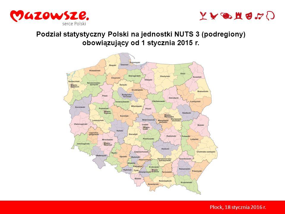 Podział statystyczny Polski na jednostki NUTS 3 (podregiony) obowiązujący od 1 stycznia 2015 r.