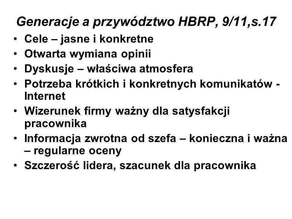 Generacje a przywództwo HBRP, 9/11,s.17