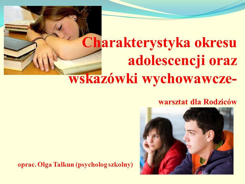 Charakterystyka okresu adolescencji oraz wskazówki wychowawcze-