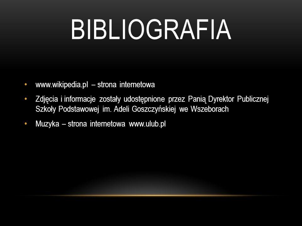 bibliografia www.wikipedia.pl – strona internetowa