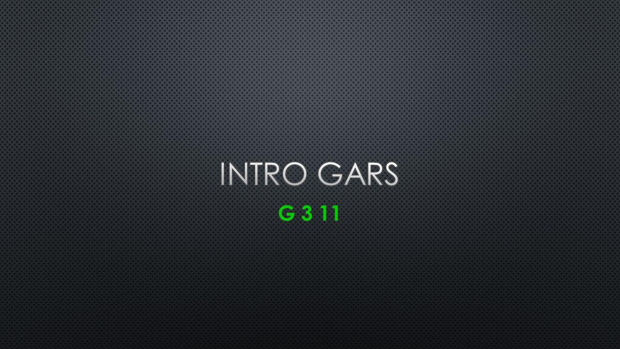 INTRO GARS G 3 11