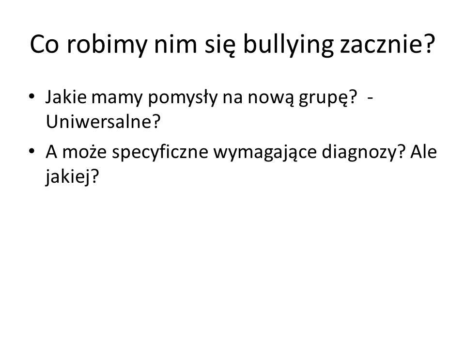 Co robimy nim się bullying zacznie