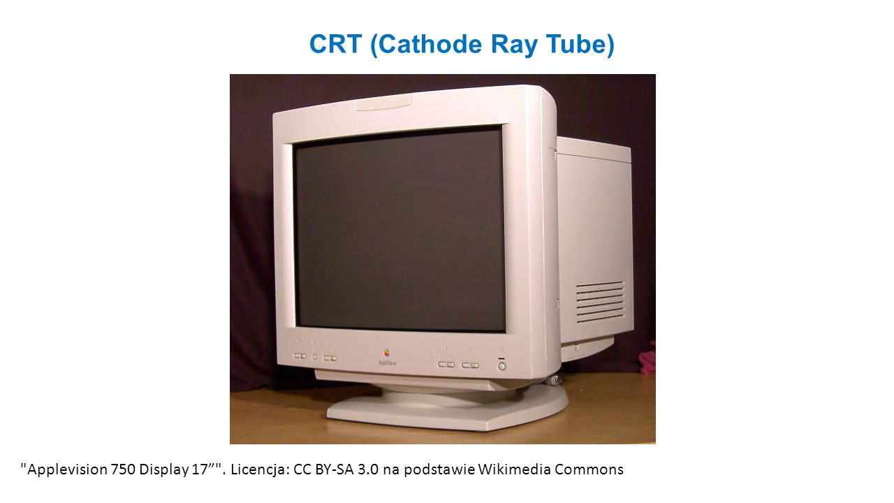 CRT (Cathode Ray Tube) Applevision 750 Display 17 .