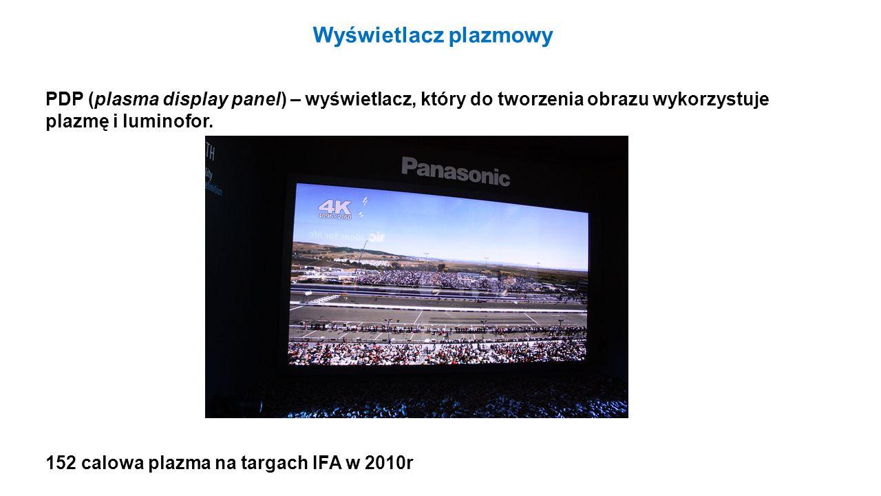Wyświetlacz plazmowy PDP (plasma display panel) – wyświetlacz, który do tworzenia obrazu wykorzystuje plazmę i luminofor.