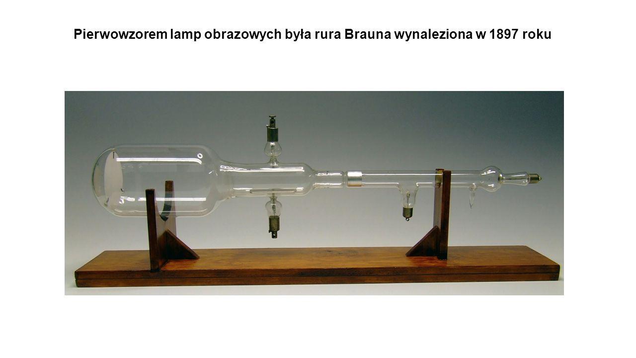 Pierwowzorem lamp obrazowych była rura Brauna wynaleziona w 1897 roku