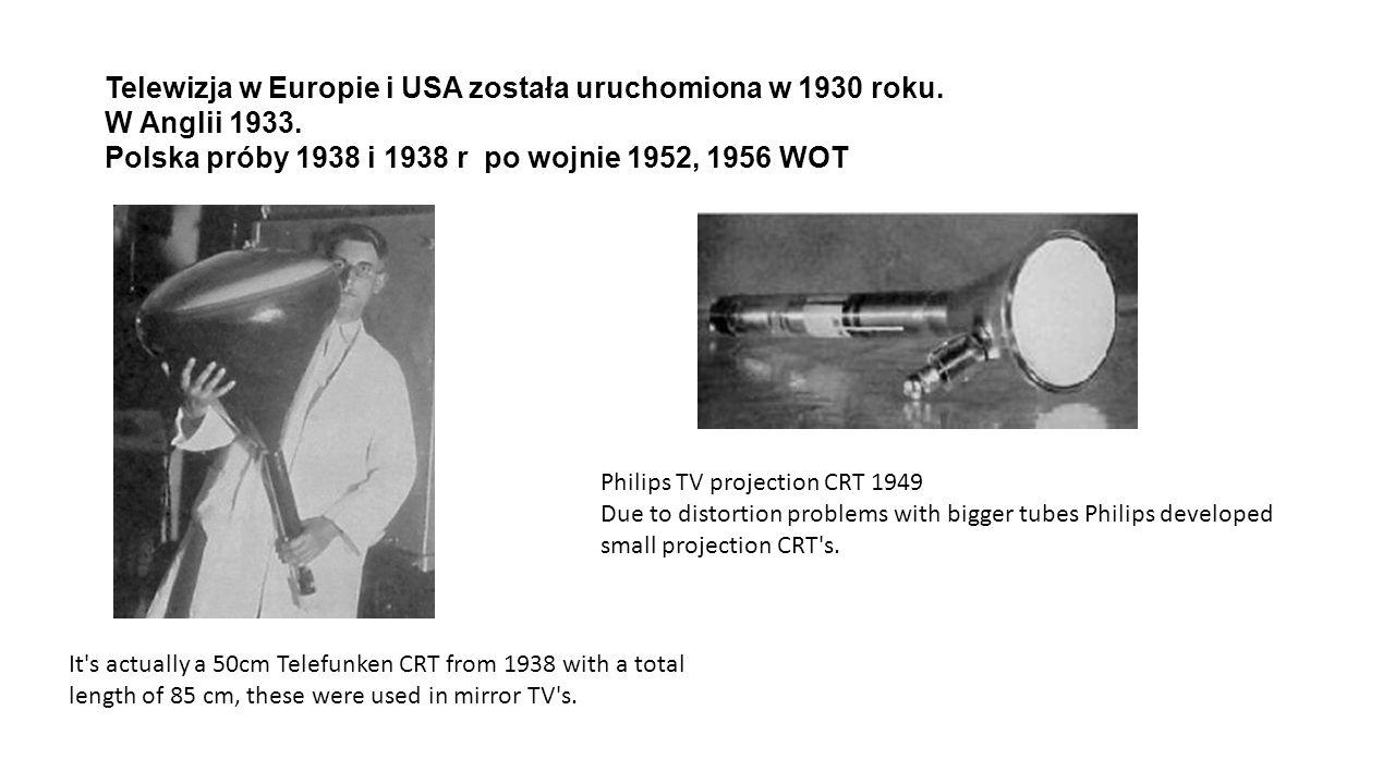 Telewizja w Europie i USA została uruchomiona w 1930 roku.