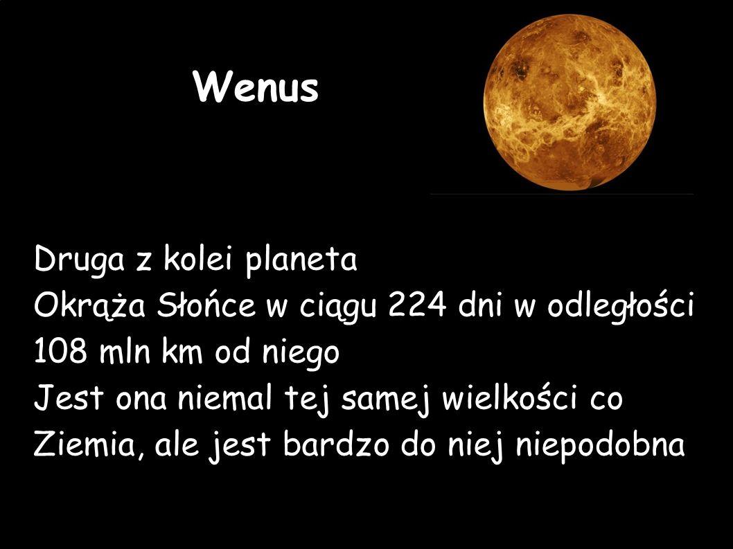Wenus Druga z kolei planeta