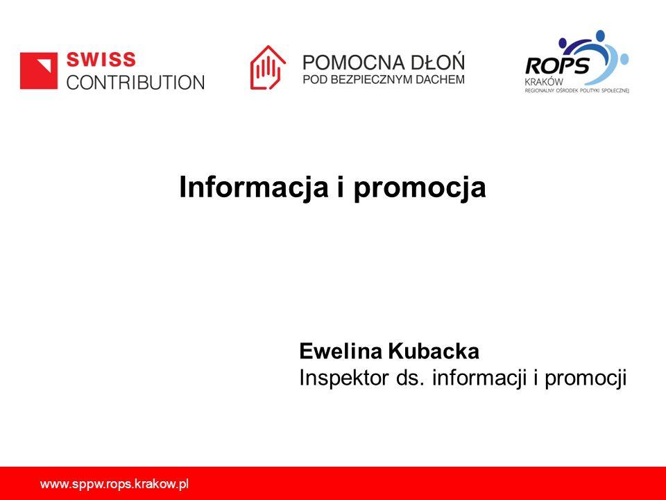 Informacja i promocja Ewelina Kubacka
