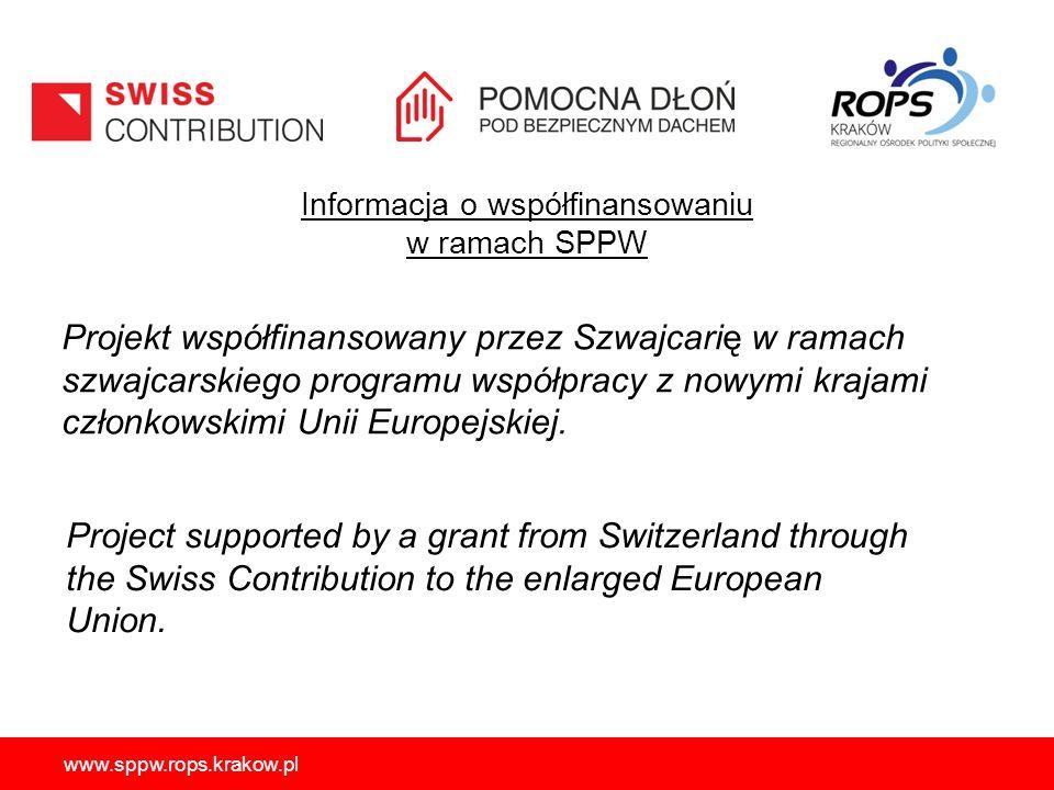 Informacja o współfinansowaniu w ramach SPPW