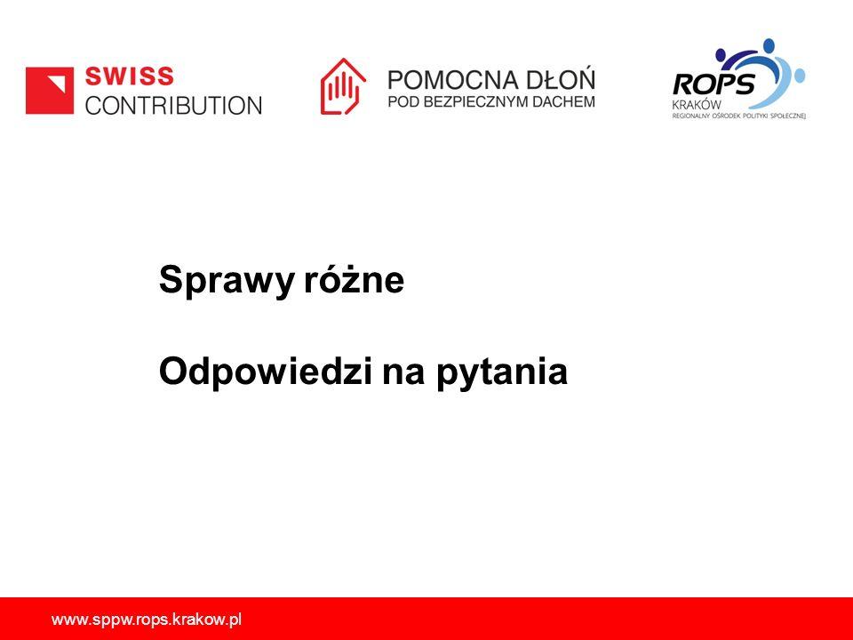 Sprawy różne Odpowiedzi na pytania www.sppw.rops.krakow.pl 56