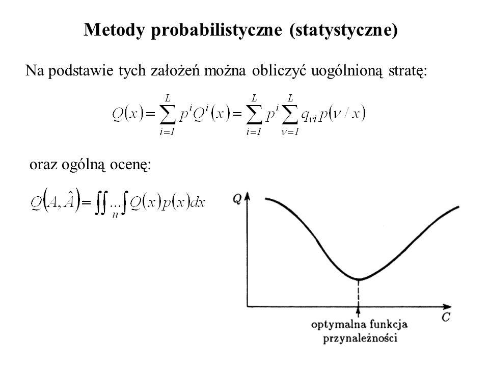 Metody probabilistyczne (statystyczne)
