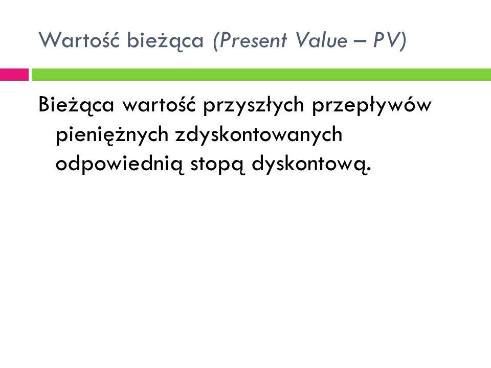 Wartość bieżąca (Present Value – PV)