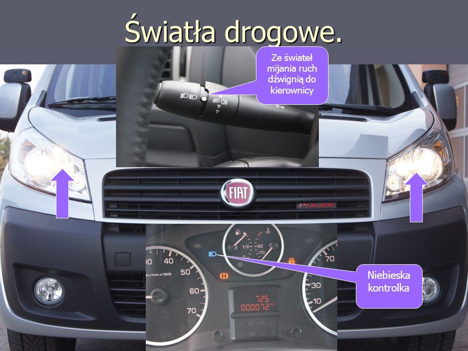 Ze świateł mijania ruch dźwignią do kierownicy