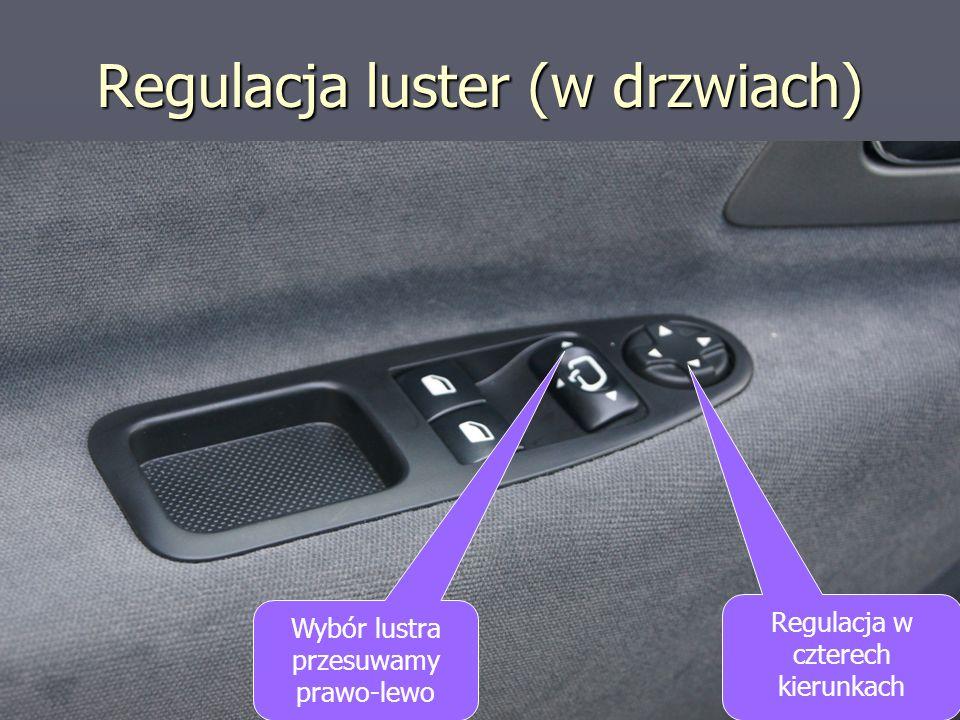 Regulacja luster (w drzwiach)