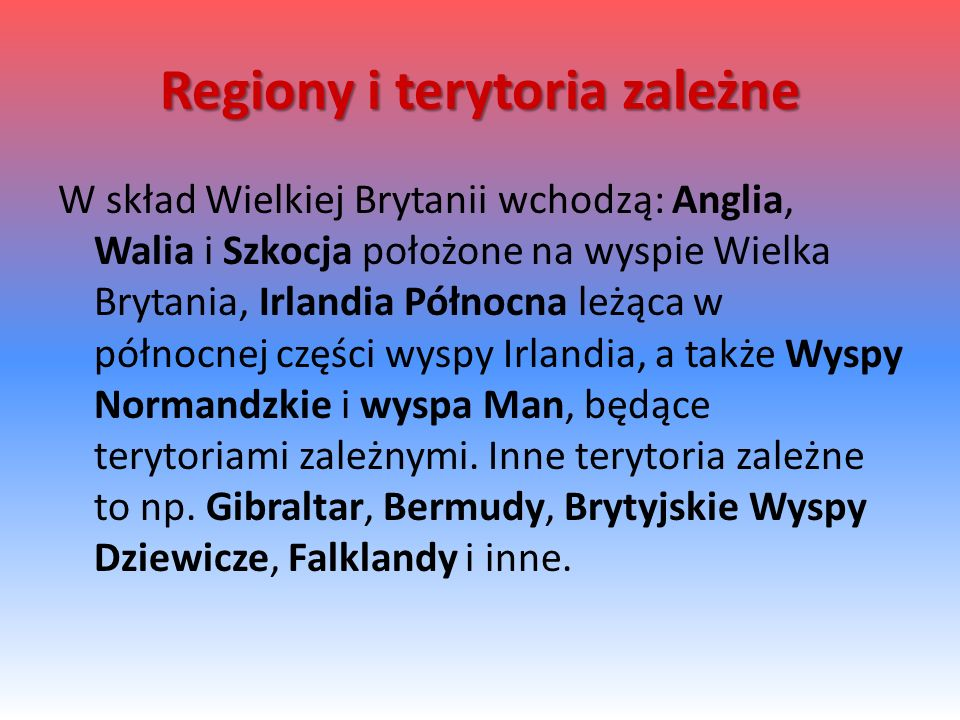 Regiony i terytoria zależne