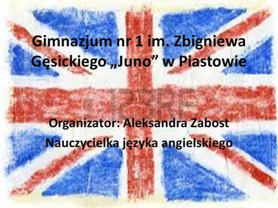 """Gimnazjum nr 1 im. Zbigniewa Gęsickiego """"Juno w Piastowie"""