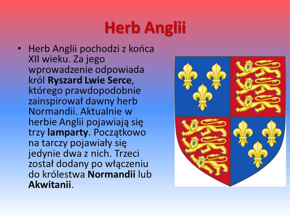 Herb Anglii