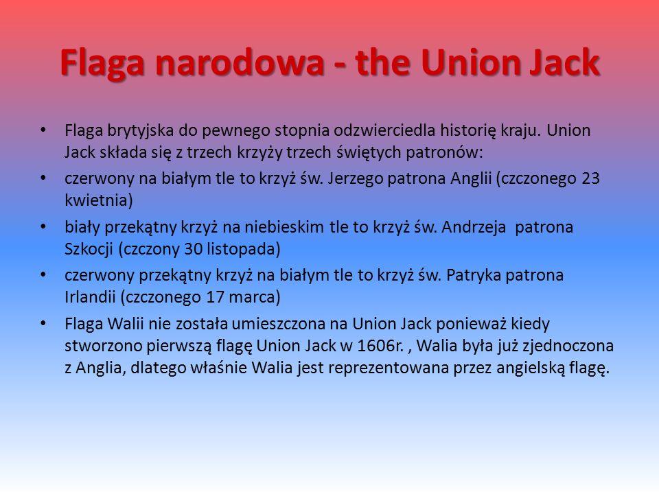 Flaga narodowa - the Union Jack