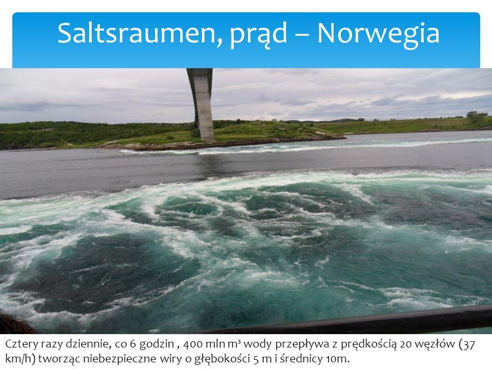 Saltsraumen, prąd – Norwegia