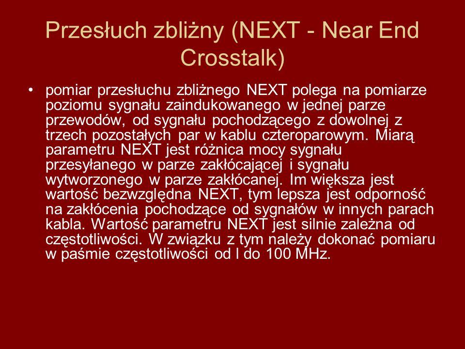 Przesłuch zbliżny (NEXT - Near End Crosstalk)