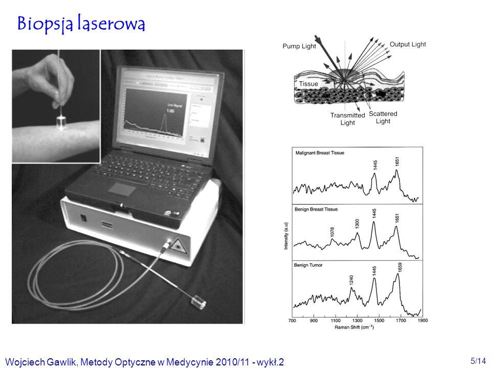 Biopsja laserowa Wojciech Gawlik, Metody Optyczne w Medycynie 2010/11 - wykł.2