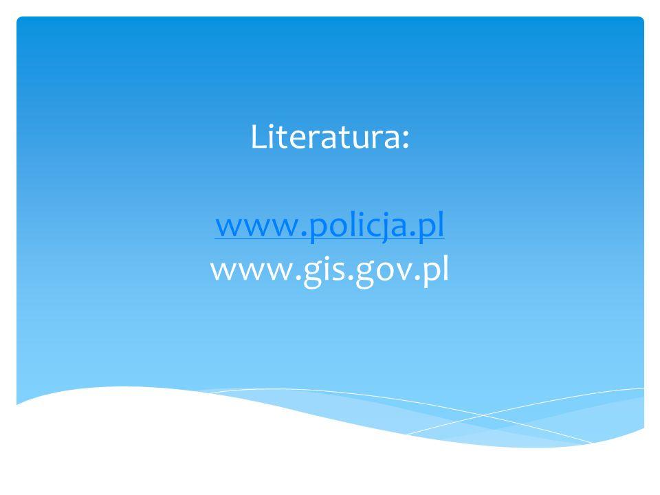 Literatura: www.policja.pl www.gis.gov.pl