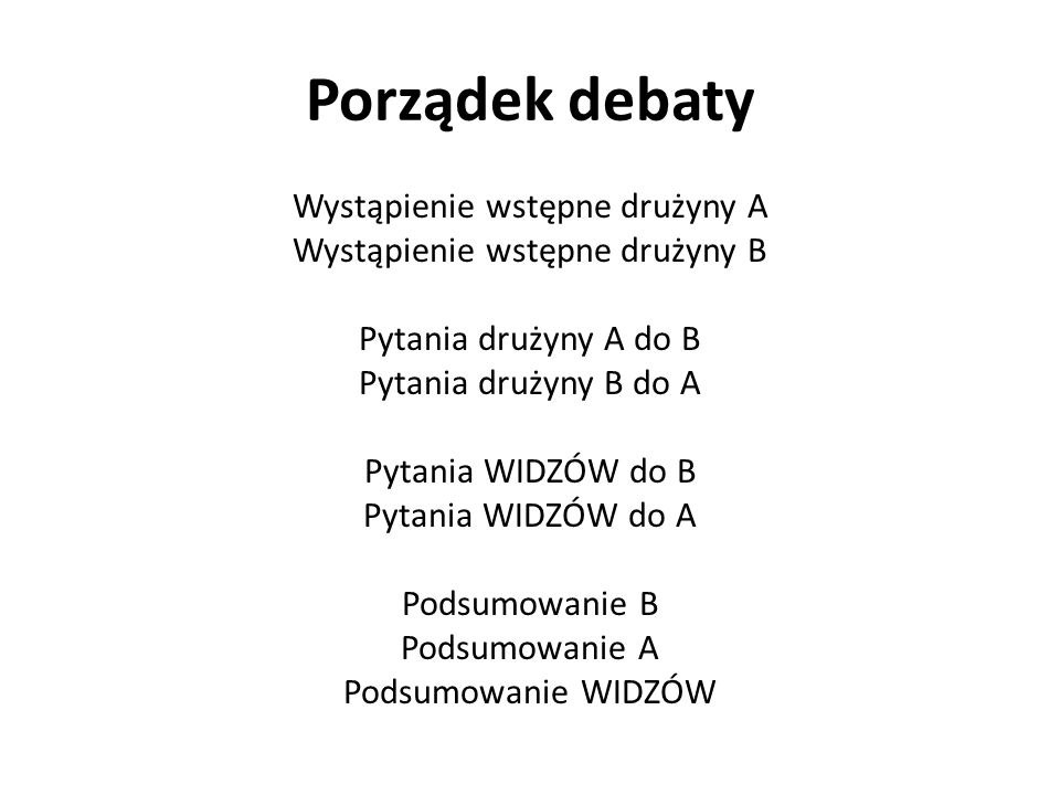 Porządek debaty