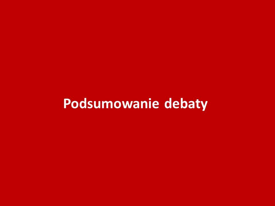 Podsumowanie debaty