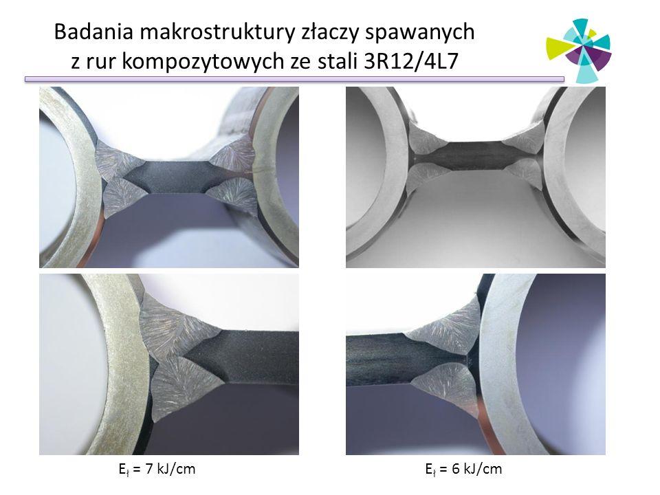 Badania makrostruktury złaczy spawanych z rur kompozytowych ze stali 3R12/4L7
