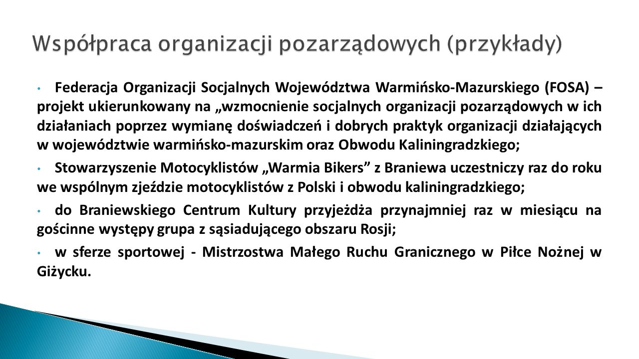 Współpraca organizacji pozarządowych (przykłady)