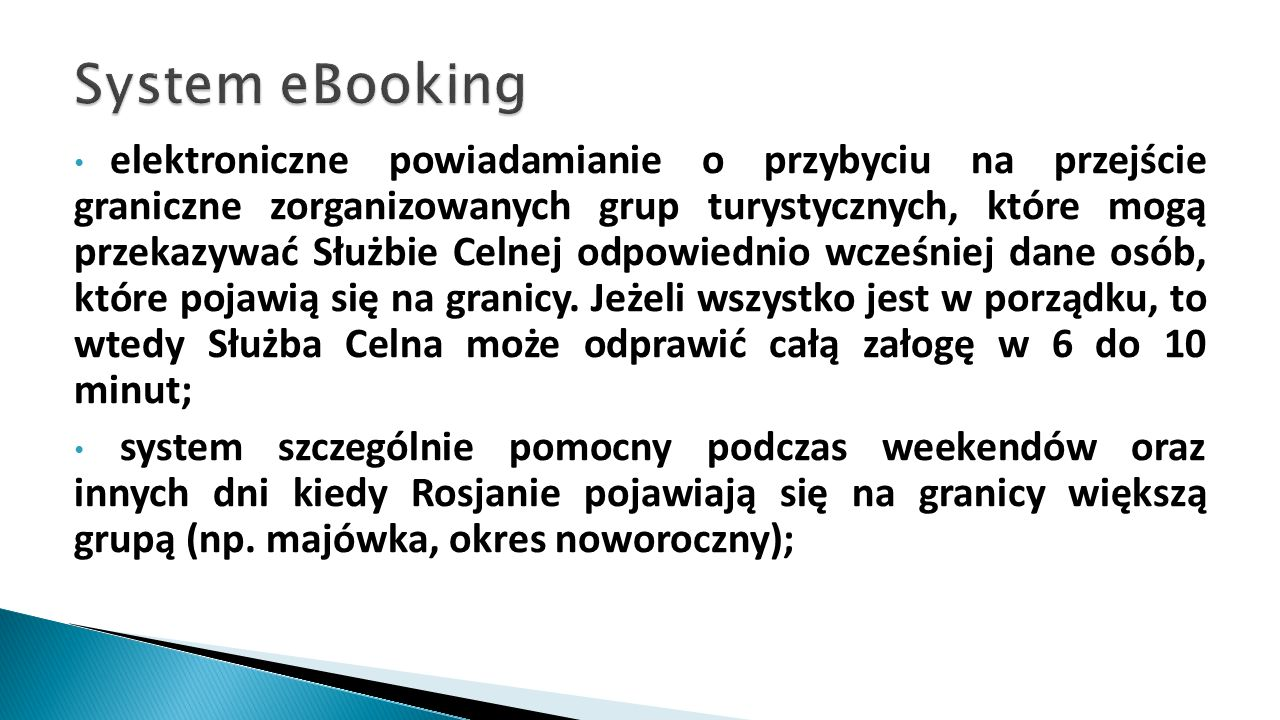 System eBooking