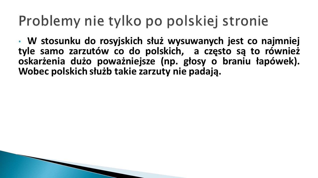 Problemy nie tylko po polskiej stronie