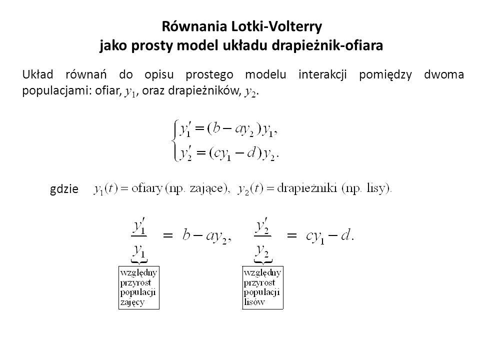 Równania Lotki-Volterry jako prosty model układu drapieżnik-ofiara