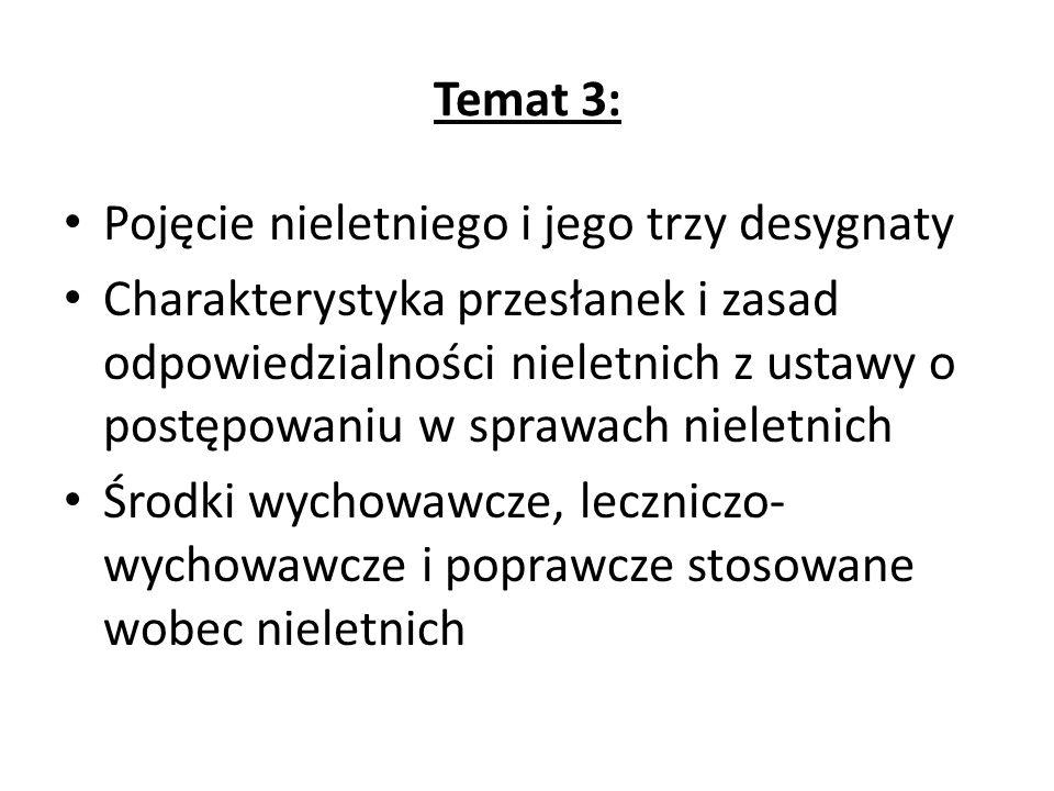 Temat 3: Pojęcie nieletniego i jego trzy desygnaty.