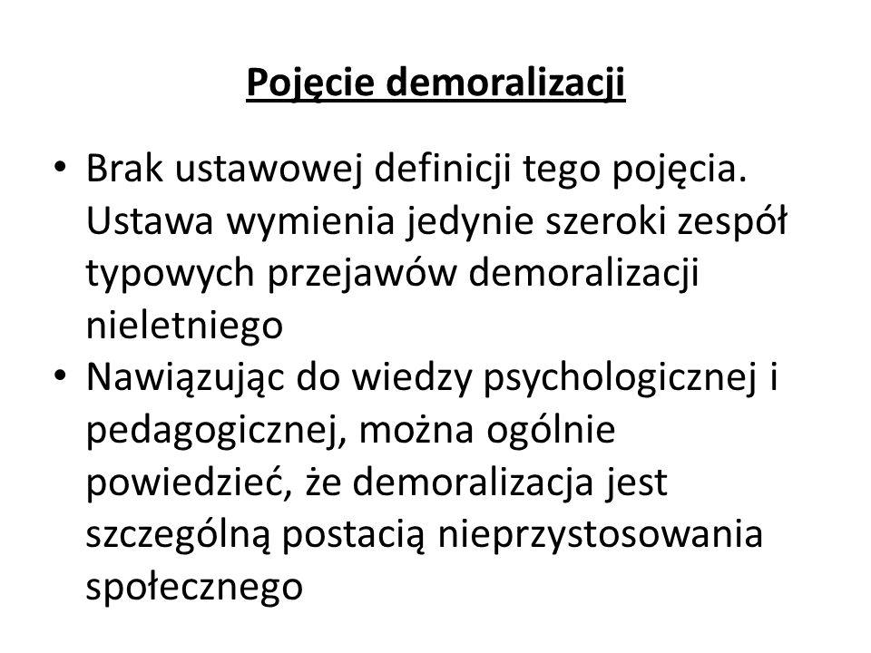 Pojęcie demoralizacji