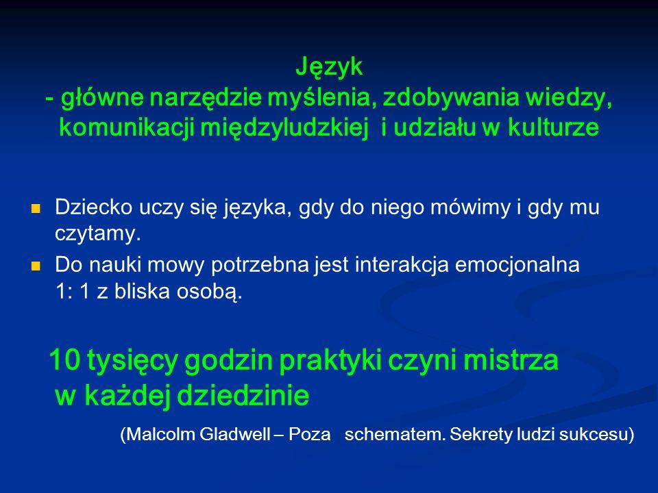 Język - główne narzędzie myślenia, zdobywania wiedzy, komunikacji międzyludzkiej i udziału w kulturze