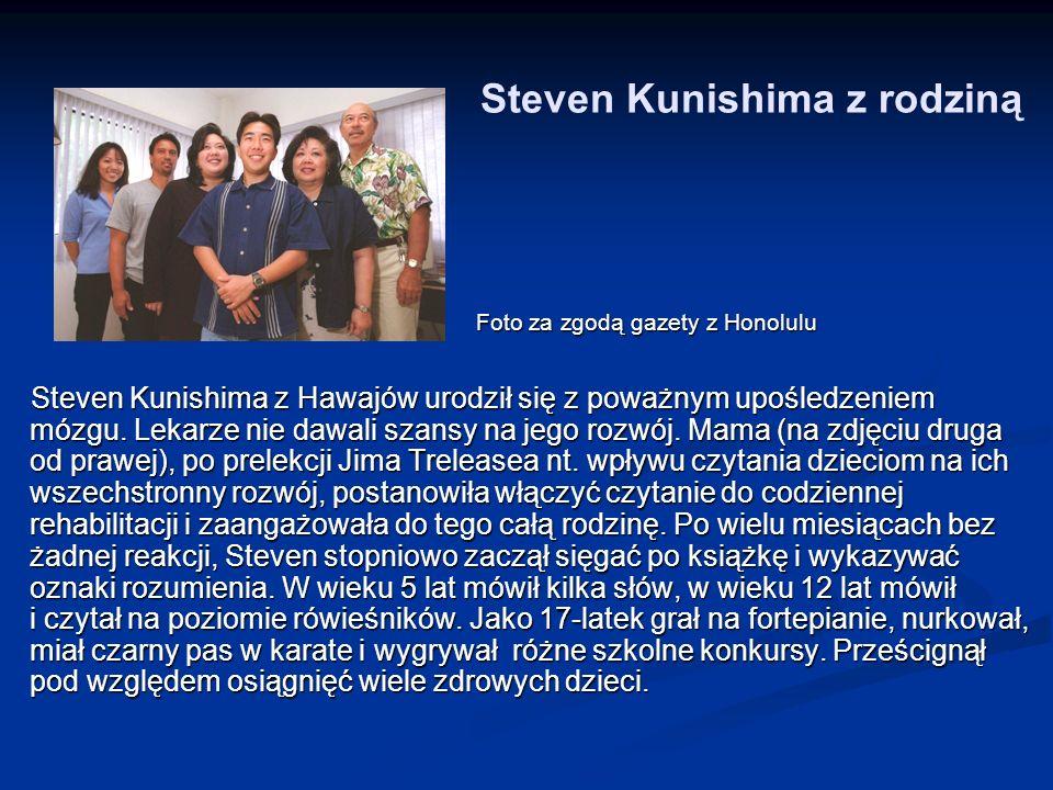 Steven Kunishima z rodziną